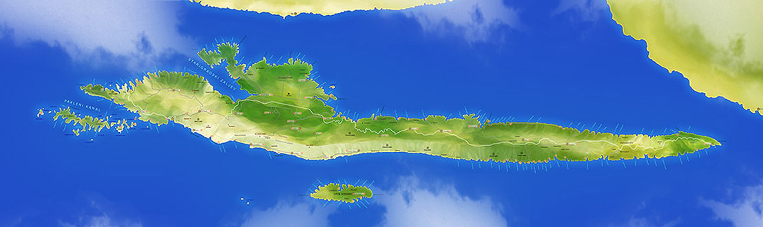 Map of Island Hvar