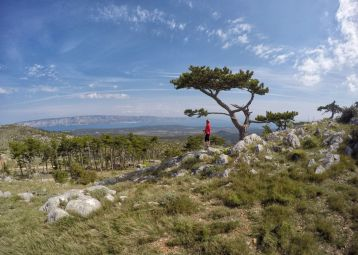St.Nikola, the highest peak of the island